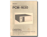 Sony PCM-1630 Operation & Maintenance Manual